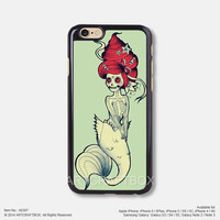 The zombie little mermaid iPhone Case Black Hard case 397
