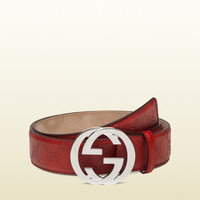 Gucci - belt with interlocking G buckle 114984AA61N6420
