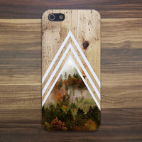 Chevron Dense Forest x Tree Bark Wood Case for iPhone 6 6 Plus iPhone 5 5s 5c iPhone 4 4s Samsung Galaxy s5 s4 & s3 and Note 4 3 2