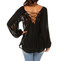 ace Insert Bubble Sleeve Top