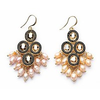 Opal Pearl Fringe Earrings