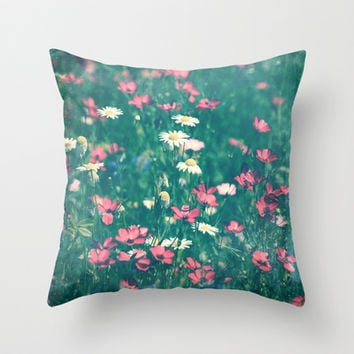 Chamomille Throw Pillow by Snaps Between Naps (by Belle13)