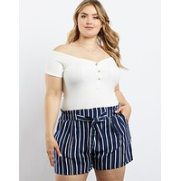 Plus Size Every Day Off The Shoulder Bodysuit
