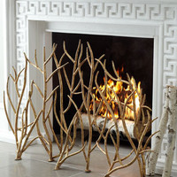 Golden Branch Fireplace Screen - Horchow