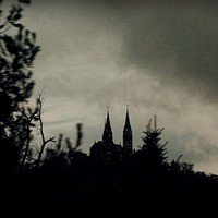 Haunted House Photograph landscape photography,Gifts under 25,church