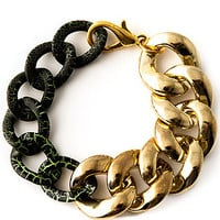 Accessories Boutique Bracelet Two Tone in Gold and Green