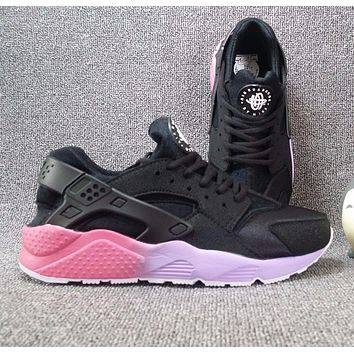 Nike Air Huarache 1 Rainbow Ultra Breathe Women Black purple Running Sport Casual Shoes Sneakers - 901