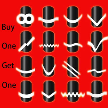 New Chic DIY 17 Style French Manicure Nail Art Tips Tape Sticker Guide Stencil = 1706115204