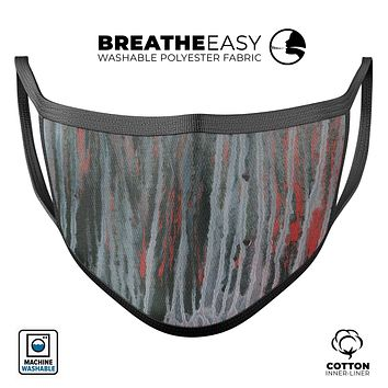 Abstract Wet Paint Smoke Red - Made in USA Mouth Cover Unisex Anti-Dust Cotton Blend Reusable & Washable Face Mask with Adjustable Sizing for Adult or Child