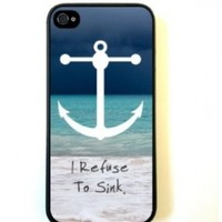 iPhone 5 Case ThinShell Case Protective iPhone 5 Case Beach Anchor Refuse to Sink