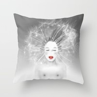 Connexion Throw Pillow by LilaVert | Society6