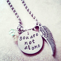Hand Stamped Guardian Angel Necklace