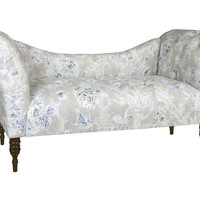 Cameron Tufted Chaise, Blue/Gray, Chaise Longues