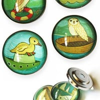 Boat Animals Magnet Set