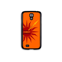 """Game of Thrones - House Martell """"Unbowed Unbent Unbroken"""" Phone Case for Galaxy S3/S4/S5 and iPhone 4/4S/5/5S/5C/6/6+ in Hard Plastic/Rubber"""
