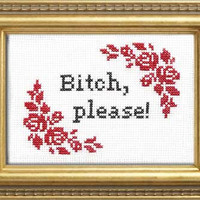 Bitch, Please | Subversive Cross Stitch