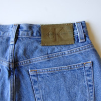 CK Denim Cutoffs/ Waist 28 - 29/ Distressed  Shredded Frayed Shorts/ From Mom Jeans/ For Women/ No Booty Showing Shorts/ Jean Shorts/ Beach