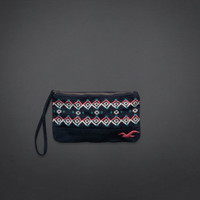 Colorful Embroidered Wristlet
