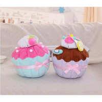 35cm plush cupcake sweet pillow,lovely chocolate strawberry cake cushion,toys for children kids girl boy Christmas gift soft toy