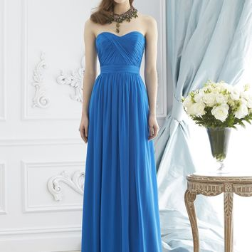 Dessy Collection 2942 Open Back Chiffon Bridesmaid Dress