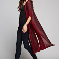 Longline High-Slit Cardigan