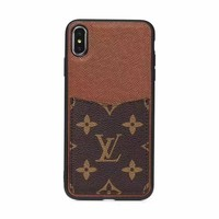 LV Bumper Edge Card Holder Case - Brown