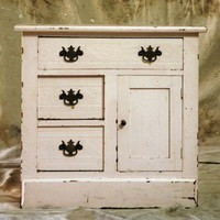 Farm Girl Antique Small Wood Dresser by 86ForTheHome on Etsy
