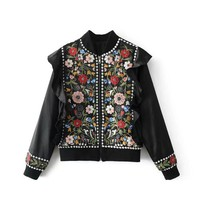 fashion embroidery Beaded jacket