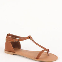 Black Poppy Athena T Strap Sandals