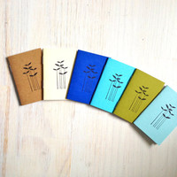 Tiny Journals: Notebooks, Grass, Leaves, Natural, Blue, Brown, Kids, Small Notebooks, Unique, Gift, Stocking Stuffer, For Him, For Her