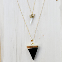 Shark Tooth Pendant, Gold Fill Necklace, Layering Necklace, Everyday necklace, Boho Necklace