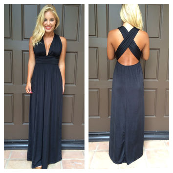Dancing With The Stars Maxi Dress - BLACK