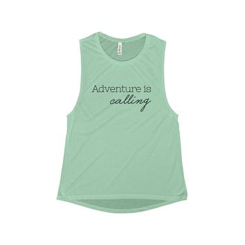 Adventure is Calling Muscle Tank