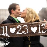 Save The Date Wedding Sign   Rustic Wedding by ThePaperWalrus