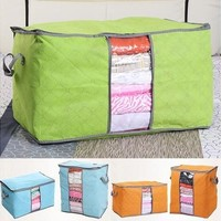 Foldable Compact Clothing Quilt Storage Bag Case Blanket Closet Sweater Organizer Box Useful [8045593159]