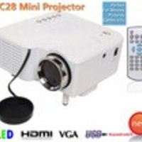 UC28 Mini Led Projector HDMI Home Theater Projector For Video Games TV Movie Support HDMI VGA AV Portable and Free Shipping - Default