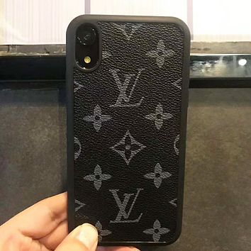 LV Louis Vuitton Newest Popular Retro Mobile Phone Cover Case For iphone 6 6s 6plus 6s-plus 7 7plus 8 8plus X XsMax XR Black LV Print