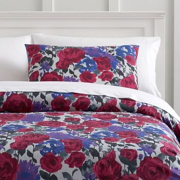 Watercolor Floral Duvet Cover + Sham
