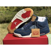 Air Jordan 4 Retro Levis NRG Blue A02571