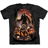 DEATHS PACK The Mountain Grim Reaper Pitbull Pit Bull Skeleton T-Shirt S-3XL NEW