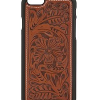 Justin Cognac Western Floral Iphone 6 Plus Shell Case