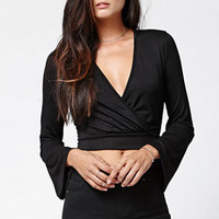 LA Hearts Bell Sleeve Wrap Tie Top at PacSun.com