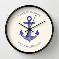 Smooth Sea Wall Clock by Fimbis