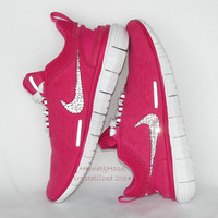 Brand New Release.....Women's Nike Free OG Superior in Wild Cherry/Vivid Pink with Swarovski crystal detail