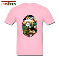 Anime T-shirt graphics Japan anime Dragon Ball T Shirts men Super Saiya T-shirt Dragonball evolutioin tshirt bape Custom manga Son Goku group team Tees AT_56_4