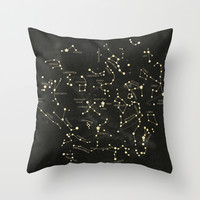 Ancient Constellations Throw Pillow by Terry Fan