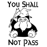 You Shall Not Pass Pokemon Snorlax Gandalf Funny Decal Sticker