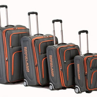 F120-CHARCOAL Varsity 4Pc Rockland Polo Equipment Luggage Set