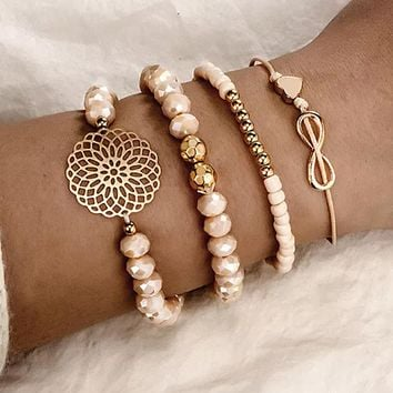 Bangles Set Vintage Bead Charm Bracelet For Women Jewelry Accessories Pulseras
