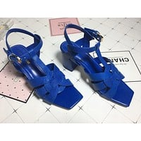 ysl women casual shoes boots fashionable casual leather women heels sandal shoes 168